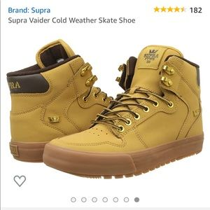 Supra Vaider Cold weather skate shoe amber gold